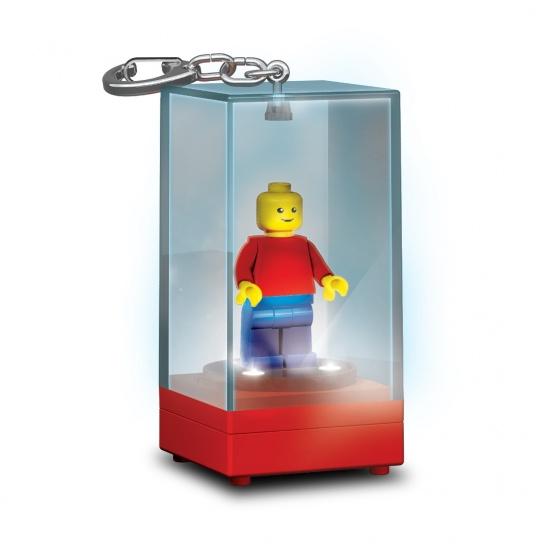 LEGO minifiguur sleutelhanger display case rood
