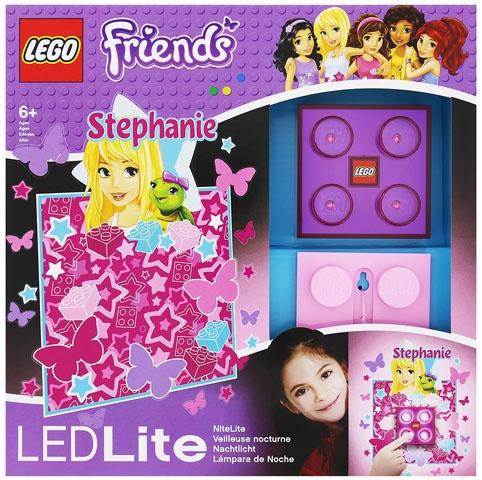 LEGO Friends: nachtlamp Stephanie 9 cm paars/roze