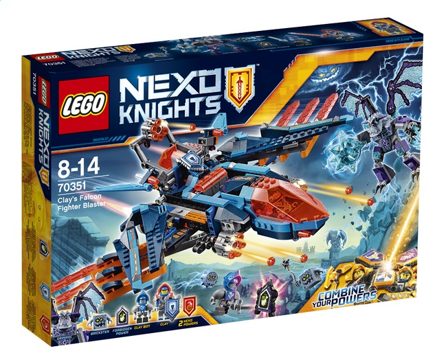 LEGO Nexo Knights: Clay's Falcon Gevechtsblaster (70351)