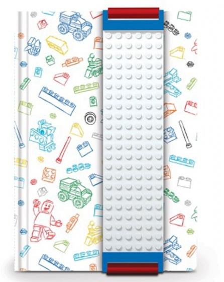 LEGO notitieblok 15 cm wit kopen