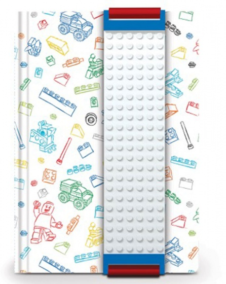 LEGO notitieboek 15 cm wit