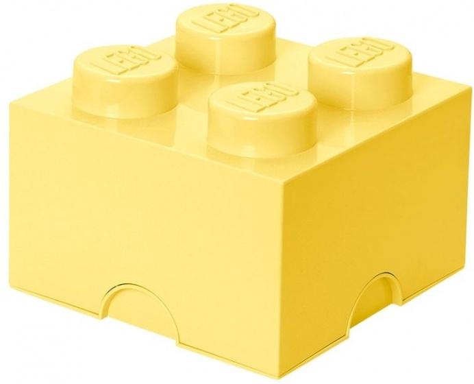 Lego Opbergbox Brick 4 Geel 25 X 25 X 18 Cm