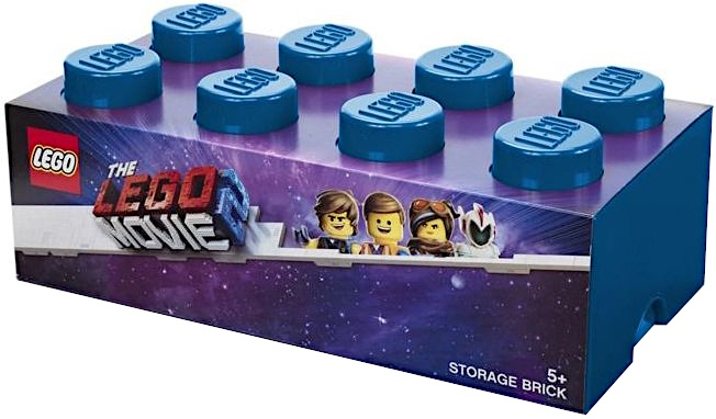 Lego Movie 2 Brick 8 opbergbox blauw