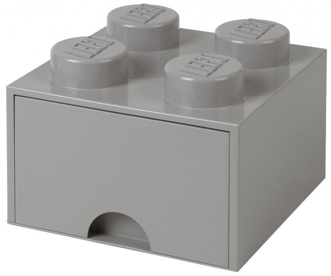LEGO opberglade Lego steen grijs