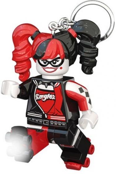LEGO sleutelhanger Batman: Harley Quinn met licht 7 cm zwart/rood