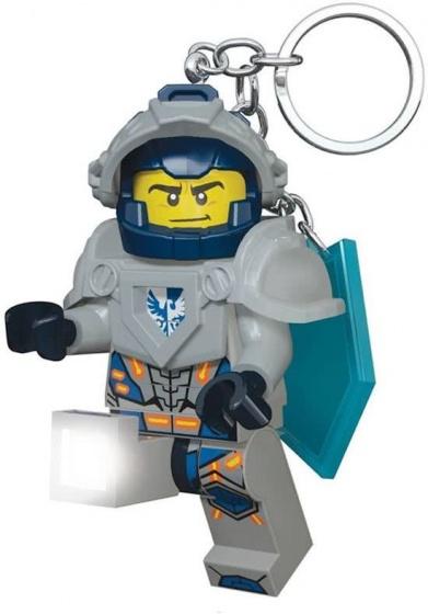 LEGO sleutelhanger Nexo: Knight Clay met licht 7 cm grijs