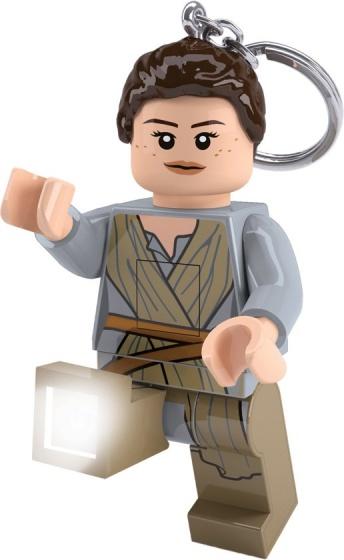 LEGO sleutelhanger Star Wars: Rey met licht 7 cm grijs
