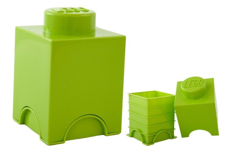 LEGO Storage Brick 1 (1,2L) Lime