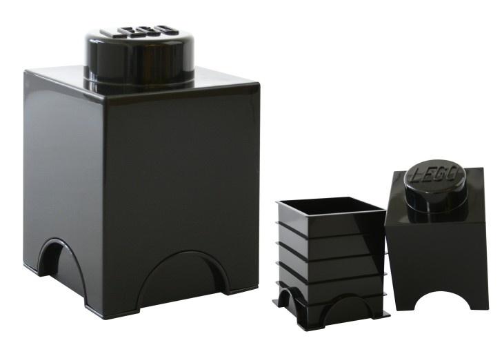 LEGO Storage Brick 1 (1,2L) Zwart