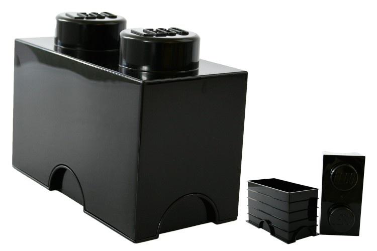LEGO Storage Brick 2 (2,7L) Zwart