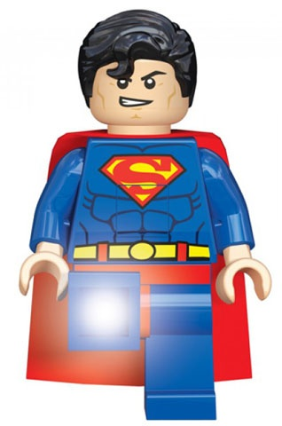 LEGO Super Heroes: Superman LED zaklamp 20 cm