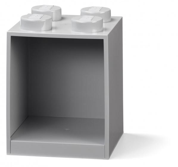 LEGO wandschap 4 noppen 16 x 16 x 21 cm polypropyleen grijs