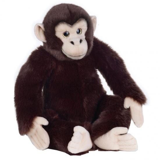 Lelly Knuffel Chimpansee 40 cm zwart