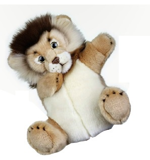 Lelly Handpop leeuw 27 cm bruin