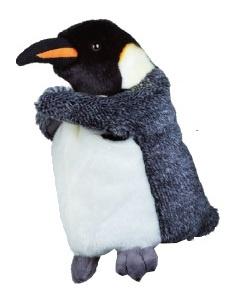 Lelly Handpop pinguin 27 cm wit/zwart