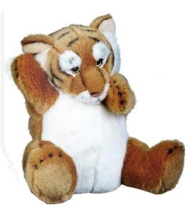 Lelly Handpop tijger 27 cm bruin