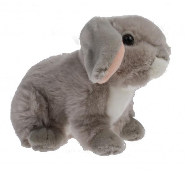 Lelly Knuffel Konijn 23 cm grijs