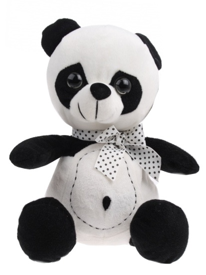 Lelly Knuffel Panda 33 cm zwart/wit