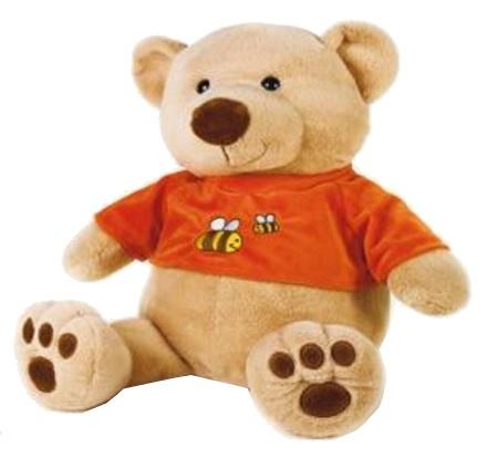 Lelly Knuffelbeer 50 cm lichtbruin/oranje