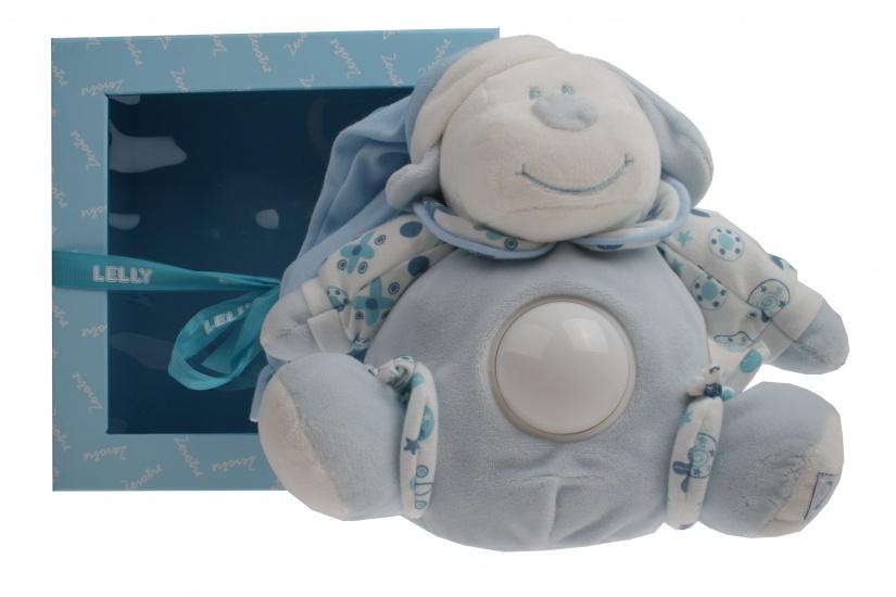 Lelly Knuffelbeer met nachtlamp jongens 22 cm blauw