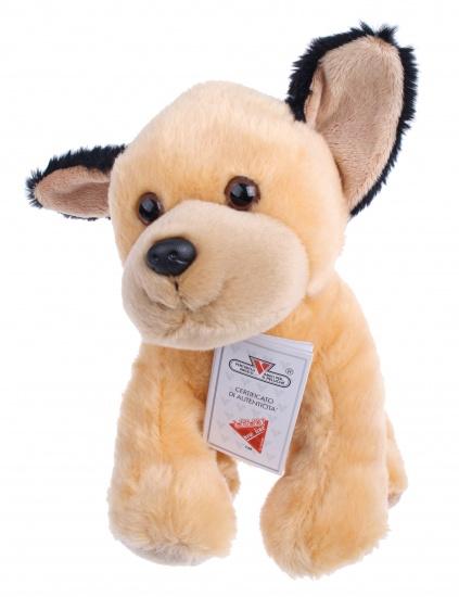 Lelly Knuffelhond 25 cm bruin/zwart