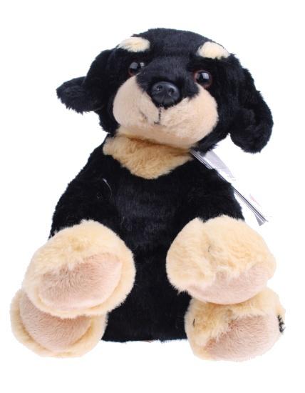 Lelly Knuffelhond 25 cm zwart