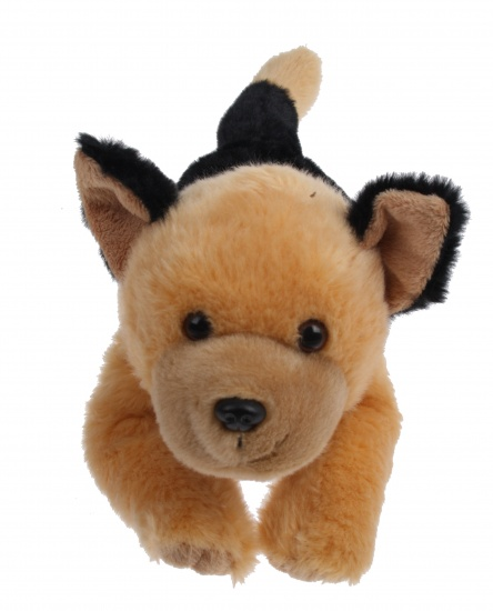 Lelly Knuffelhond 35 cm zwart/bruin
