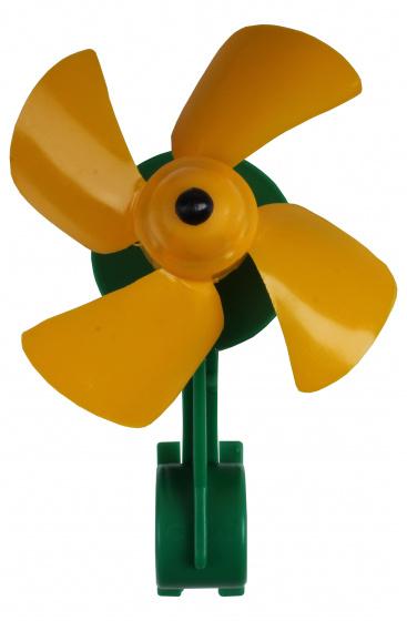 Lena windmolen junior 11 cm geel/groen