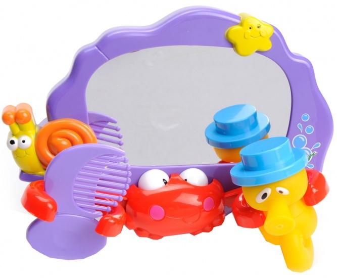 Let's Play Badspiegel met 2 accessoires paars