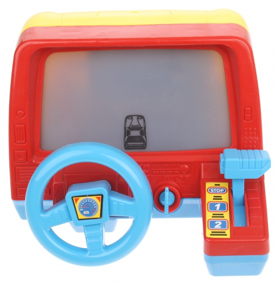 Let's Play Dashboard licht en geluid 19 x 23,5 x 14 cm geel