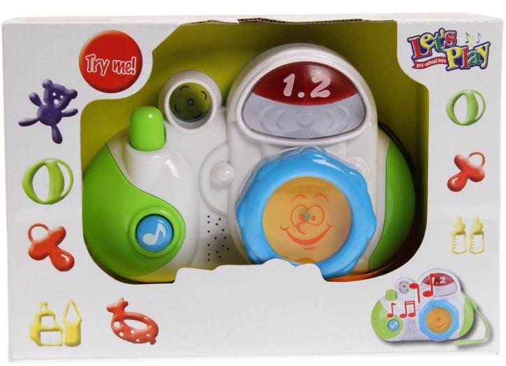 Let's Play Babycamera met licht en geluid wit