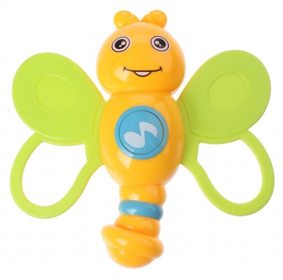 Let's Play rammelaar dieren junior 11 x 8 cm geel