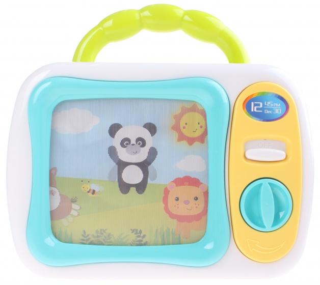 Let's Play speelgoed televisie 24 cm wit