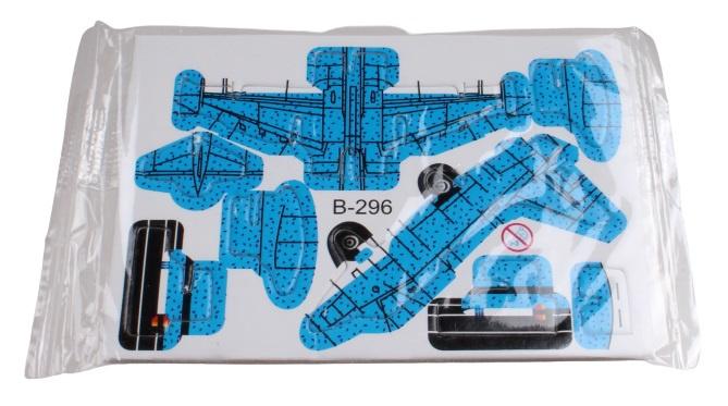 LG Imports 3D puzzel vliegtuig 8 x 6 cm blauw