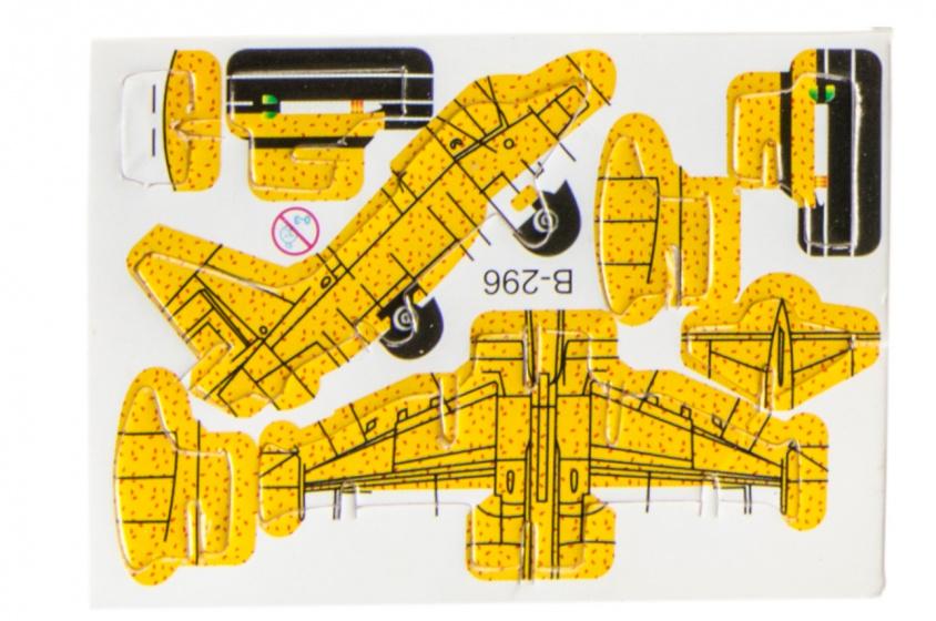 LG Imports 3D puzzel vliegtuig 8 x 6 cm geel