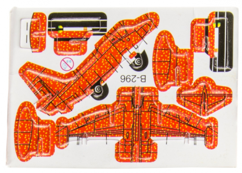 LG Imports 3D puzzel vliegtuig 8 x 6 cm rood