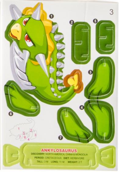 LG Imports 3D puzzel ankylosaurus 7 stukjes