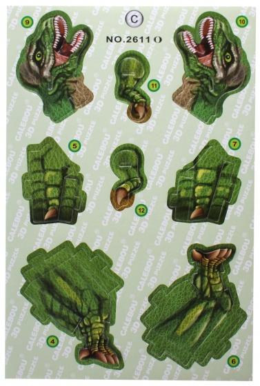 LG Imports 3D puzzel tyrannosaurus 14 stukjes