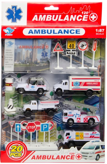 LG Imports ambulanceset 20 delig o.a. ambulancejeep