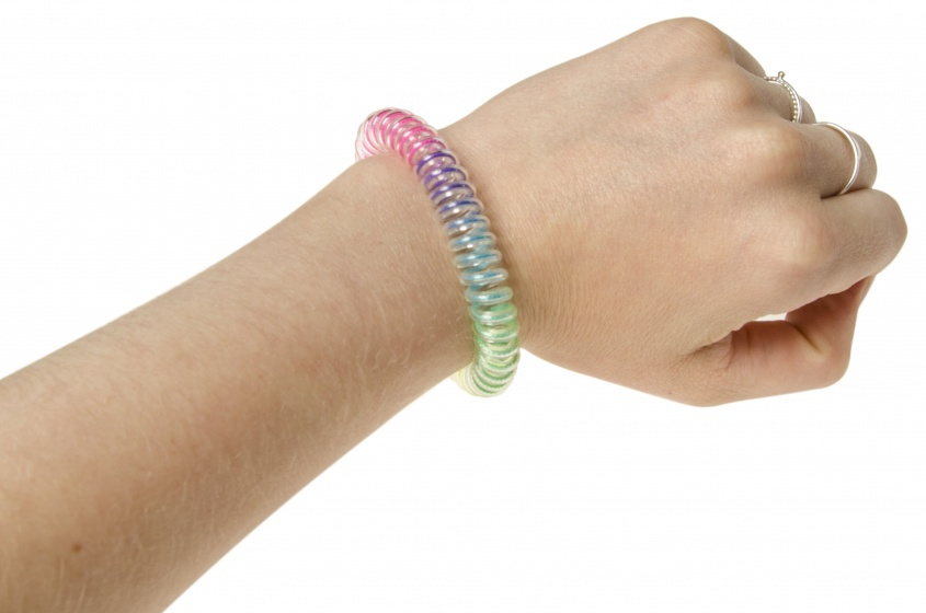 Bracelet spiral rainbow colors