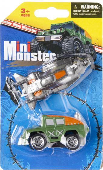 LG Imports autoset mini monsters junior groen/grijs 2 delig