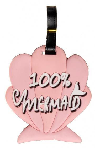 LG Imports bagagelabel schelp 18 x 8 cm roze kopen