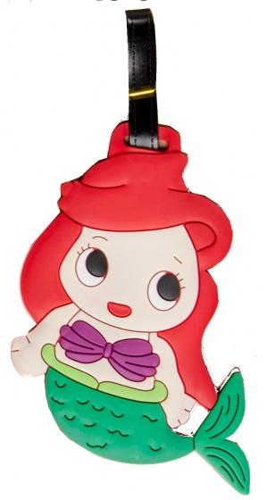 LG Imports bagagelabel zeemeermin 18 x 8 cm rood/groen kopen