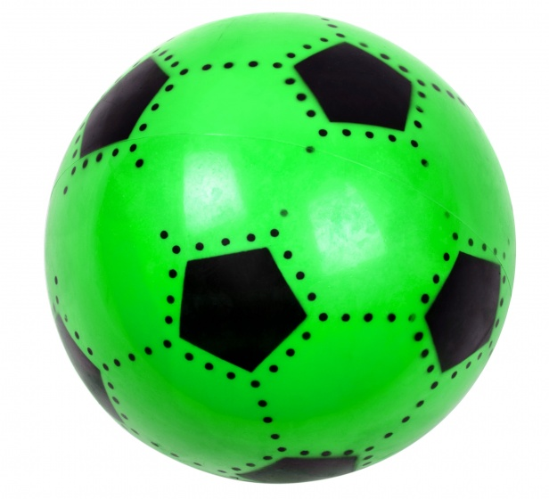 LG Imports voetbal soft junior 16 cm groen