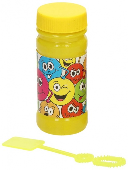bubble bladder Smiley 50 ml yellow each