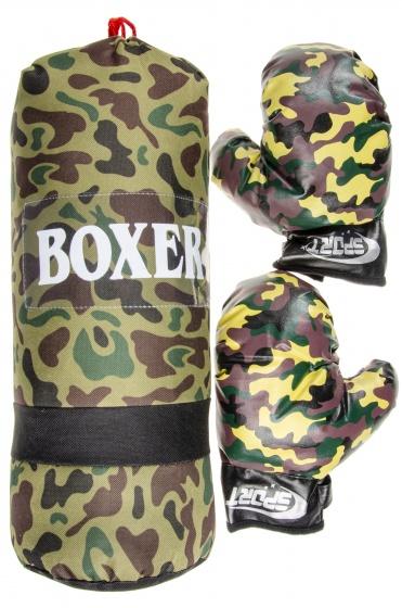 LG Imports bokszak met handschoenen junior camouflage print