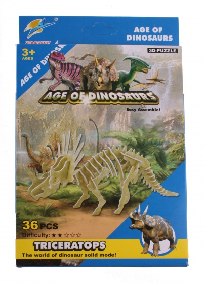 kit dinosaure Triceratops 36 pièces