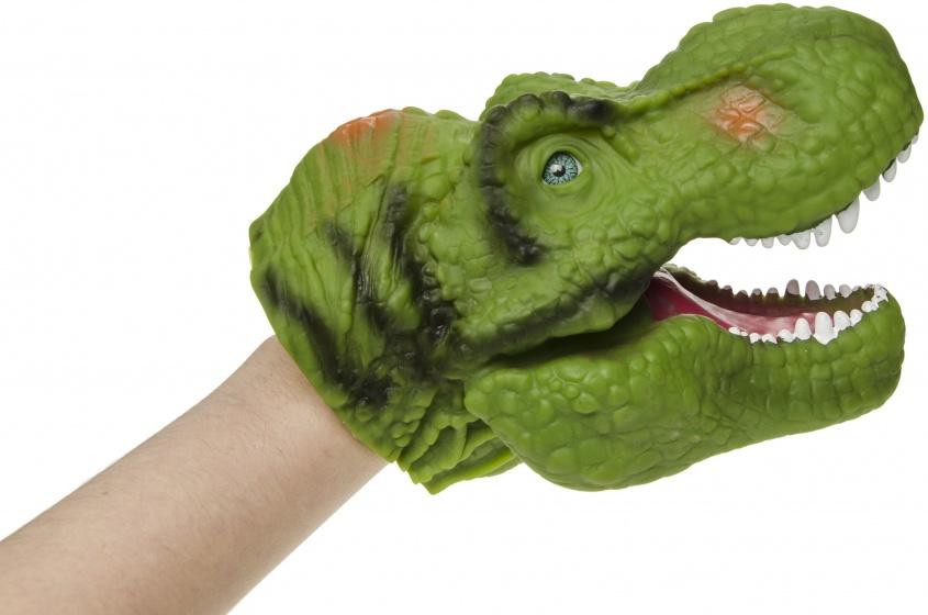 LG Imports dinosaurus handpop 30 cm groen