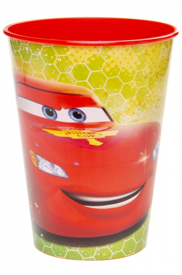 drinking cup cars 260 ml red/yellow