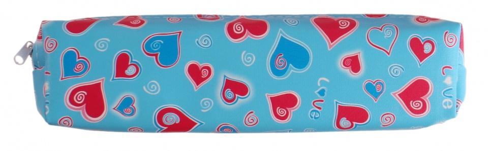 LG Imports etui met hartjes blauw 23 x 6,5 cm kopen